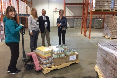 Millet food bank shopping in our warehouse
