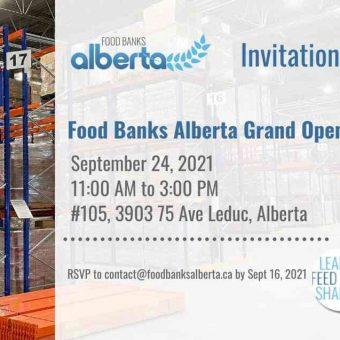 Food Banks Alberta Open House: Postponed